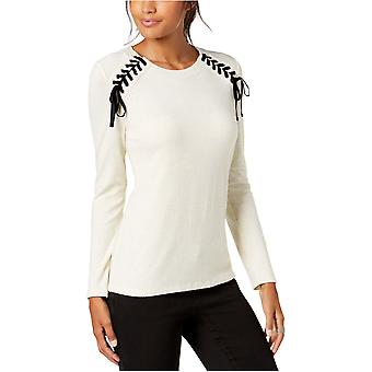 INC | Lace-Up Scoop-Neck Top