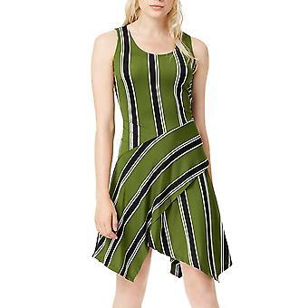 Bar III   Boho Sunset Hanky Hemmed Striped Shift  Dress