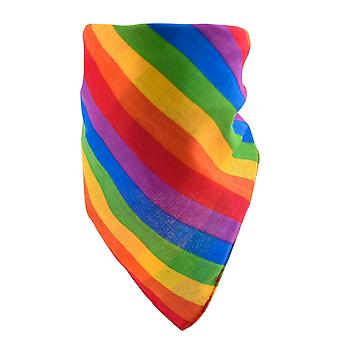 TRIXES レインボー バンダナ レインボー ギフト コットン バンダナ LGBTQA+ ヘッドスカーフ
