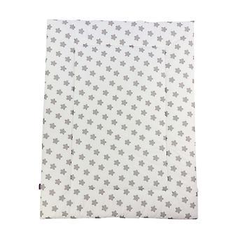 Puckdaddy Crawling Blanket Freya 140x100cm com Cinza Stars Dots Padrão Cinza Branco