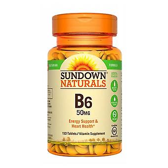 Sundown Naturals Vitamin B-6, 50 mg, 12 X 150 Tabs