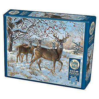 Cobble hill puzzle - winter deer - 500 pc