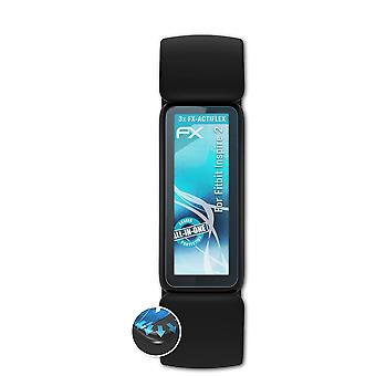 atFoliX 3x فيلم واقية متوافقة مع Fitbit إلهام 2 حامي الشاشة واضحة ومرنة