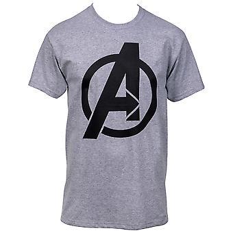 Avengers Symbol Heather Cool Grey Men's Camiseta