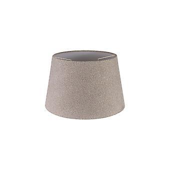 Araminta Pyöreä, 350/450 X 280mm kangasvarjostin, Monivalkoinen laminaatti