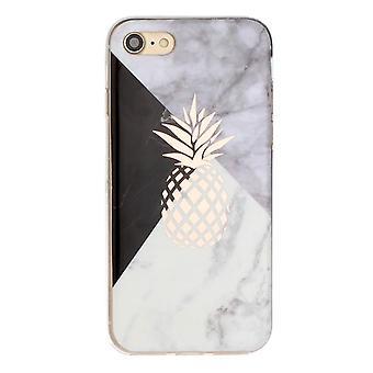 Marmor og ananas - shell til iPhone 7/8/SE 2020