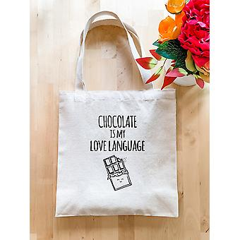 Chocolate Is My Love Language Tote Bag