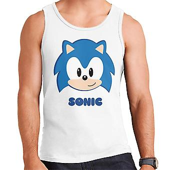 Sonic The Hedgehog Character Head Gilet uomo