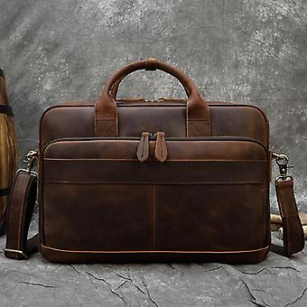 Men Genuine Leather Laptop Bag