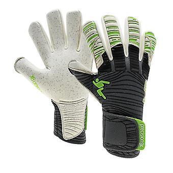Präzision Elite 2.0 Quarz Negativ Erwachsene Fußball Torwart Handschuh schwarz/grün