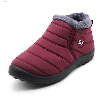 Winterstiefel, Pelz Schnee Plüsch, Schuhe warm wasserdicht Herren Schuhe