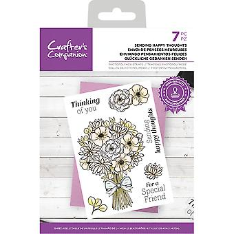 Crafter's Begleiter klare Briefmarken senden glückliche Gedanken