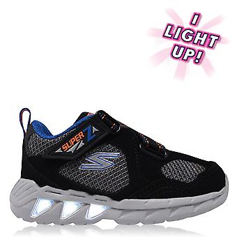 Skechers Boys Magic Light Trainers Infant Padded Ankle Collar Casual Shoes