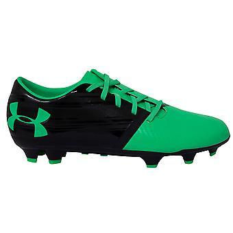 تحت درع UA أضواء الجلود الخضراء FG الرجال أحذية كرة القدم 1289533 003