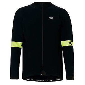 Oakley Road Thermal Jersey Sweatshirt Mens Cycling Hi Viz Jacket Black 412651 05W