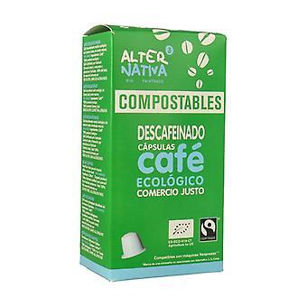 Orgaaniset kompostoitavat kapselit kofeiinitonta kahvia 10 kapselia