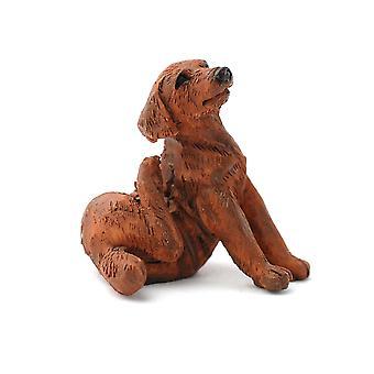 dukker huset sjokolade labrador skrape kjæledyr hund miniatyr 1:12 tilbehør