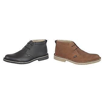 Lambretta Mens Camden Leather Desert Boots