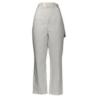 Donne con controllo Petite Shaper Nina Vita Pintuck Pantaloni Bianco A375602