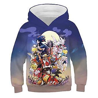 スーパーマリオ3Dプリントパーカー漫画の服フードスウェットシャツファッション