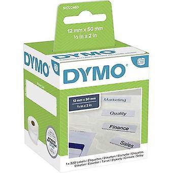 DYMO Label roll 99017 S0722460 50 x 12 mm paperi valkoinen 220 PC (t) pysyvä jousitus tiedosto tarrat