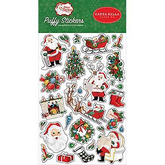 Carta Bella Dear Santa Puffy Stickers
