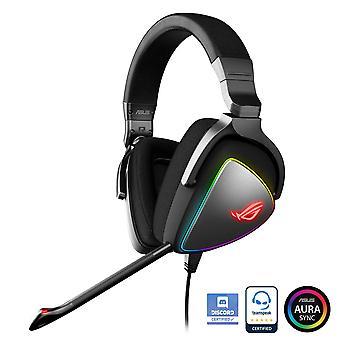 Asus rog delta rgb gaming headset met hi-res ess quad-dac, circulair rgb-verlichtingseffect en usb-c c