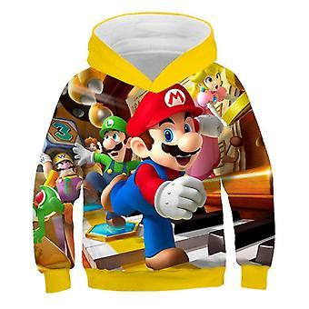 Fancy Fashion 3d Print Soft Hoodie Cartoon Clothing Hooded Sweatshirt