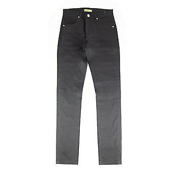 Versace Jeans Pocket Tiger Gabardine Stretch Jean Black