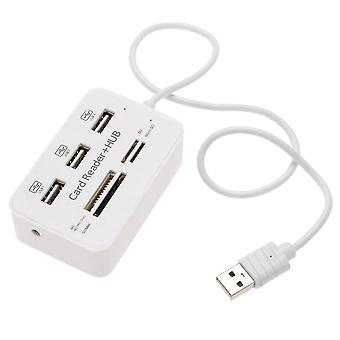 3-port Usb2.0 Hub With Card Reader