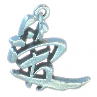 Love - Chinese Character Symbol Sterling Silver Charm .925 X 1 Charms - 1702