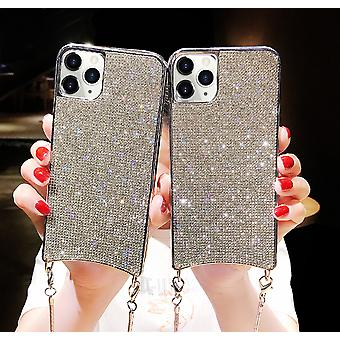 H-basics phone chain for Apple iPhone 7+ / 7S+ / 8+ phone chain case cover - Necklace case with black design