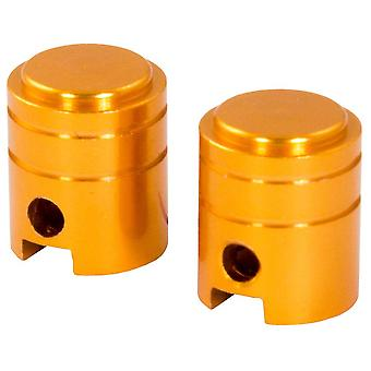 Bike It Small Piston Valve Caps - Gold