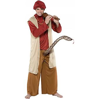 Charmeur de serpent Arabian Alibaba Funny cerf cabre nuit Mens Costume OS