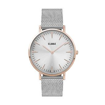 Cluse Unisex La Behème Rose Gold Circle Quartz Fashion Watch CW0101201006