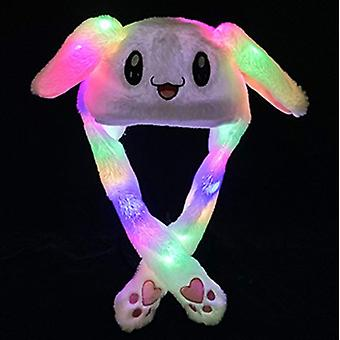 Mode Cute Hat Women Peluche Light Rabbit Ear Wrap Warm Cap Glowing Party