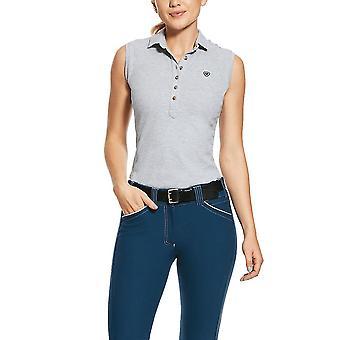 Ariat Prix 2.0 Womens Sleeveless Polo Shirt - Heather Grey