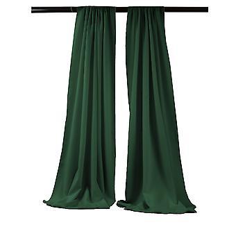 La Leinen Pack-2 Polyester Poplin Hintergrund Drape 96-Zoll breit von 58-Zoll hoch, Hunter grün
