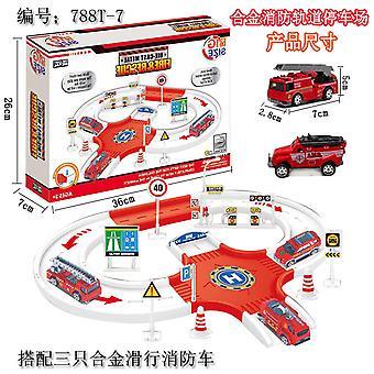Jouet de voie de camion de pompiers d'Children's