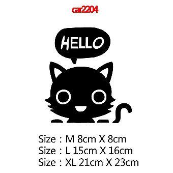 لطيف القط كمبيوتر محمول الفينيل ملصقات ملصقة لMacbook الهواء شبكية العين