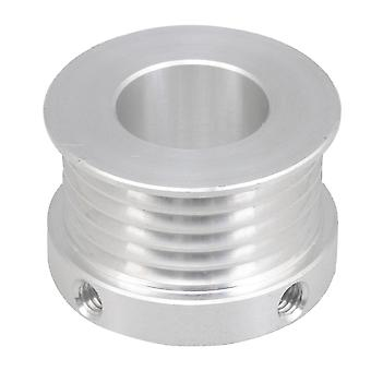 Multi-slot Belt Pulley 6061 Aluminum 31mm Dia 16mm Aperture Silver