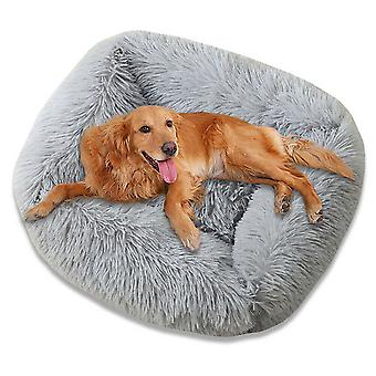 Pet Dog Cat Calming Bed Fluffy Warm Easy Clean Rectangle Matelas Coussin