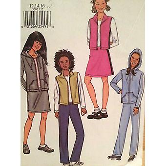Butterick نمط الخياطة 3602 الفتيات الفتيات سترة سترة السراويل حجم 12-16 Uncut
