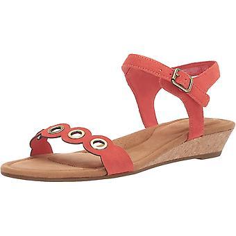 Koolaburra by UGG Women's Leira Heeled Sandal, Ember Glow, 06 B US