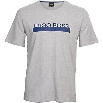 חולצת לוגו זהות בוס, אפור/כחול