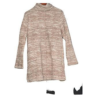 Stan Herman Women's Space Dye Classic Plush Tunic W/ Leggings Beige A381686
