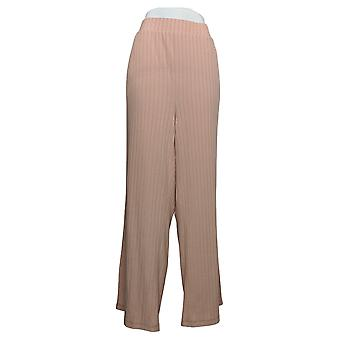 Anybody Women's Pants Plus Plush Wide Leg Sweatpants Pink A388562