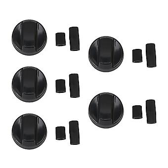 5 x ABS Plastic Universal Stove Knob Replacement Parts 42x26mm Black