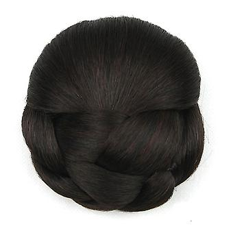 Hair Bun Wig Chignons For Women Heat Resistant Hairpiece Rubber Band Curly Hair Donuts
