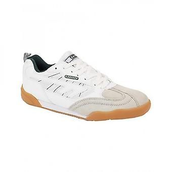 Hi-Tec Squash Unisex Lace Up Sports Trainers White